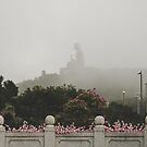 Misty view of the Tian Tan Buddha by Gabriel Quintana  || Worldplaces ||