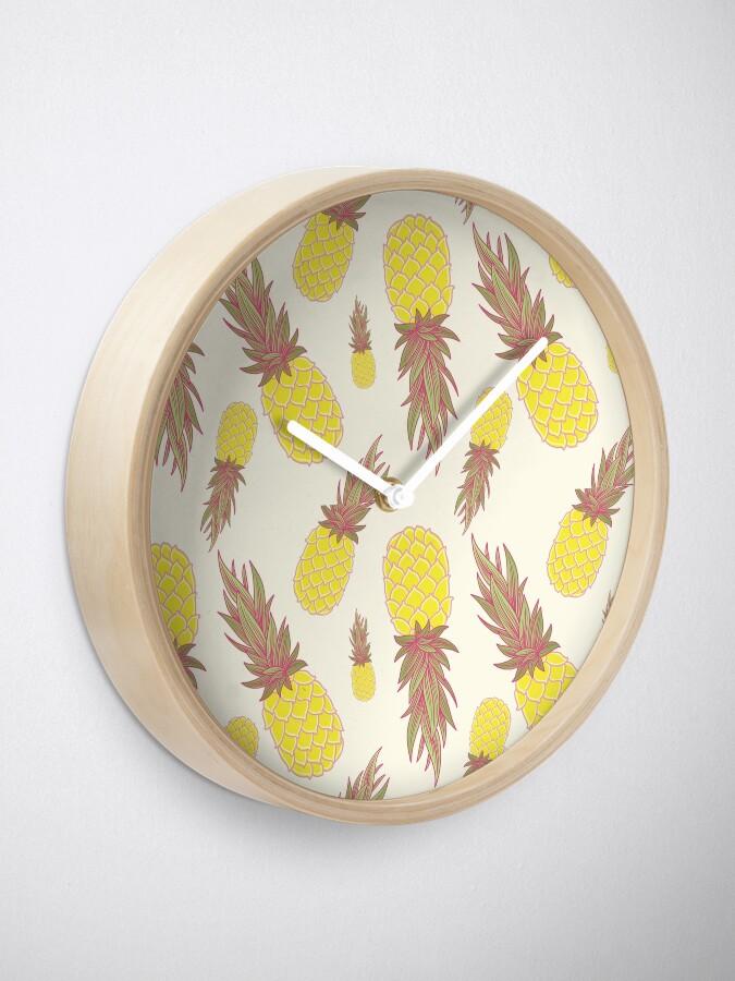 Alternate view of Fresh Pineapples! Clock