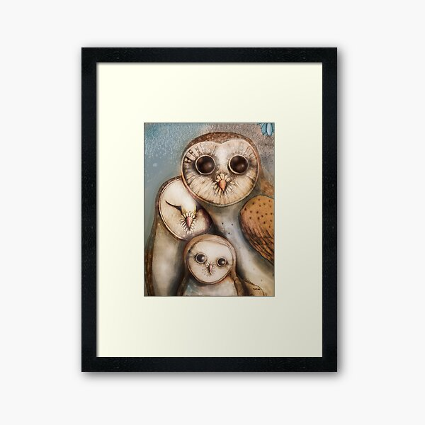 three wise owls Framed Art Print