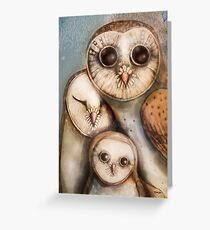 three wise owls Greeting Card