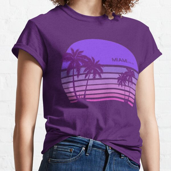 Synthwave - Miami FM-77 Classic T-Shirt