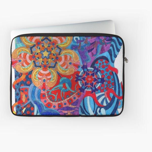 13 Inch Laptop Sleeve Daisy Energy Blue