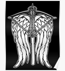 Angel Wings and Crossbow (Clean) Poster
