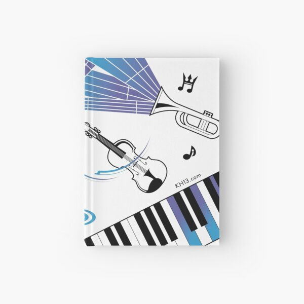 Musical Notes Hardcover Journal