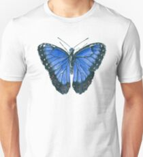 Blue Morpho butterfly watercolor painting Unisex T-Shirt