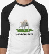 100 % Dog Lover 2  Men's Baseball ¾ T-Shirt