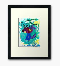 Kangaroo : Funny Animal Series Framed Print
