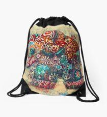 Vintage Elephant TShirt Drawstring Bag