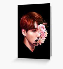 Blumen + Jungkook Grußkarte
