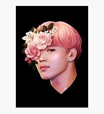 Flowers + Jimin Photographic Print