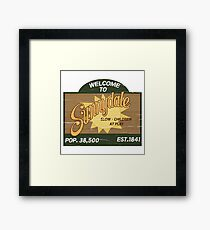 Welcome to Sunnydale : Inspired by Buffy The Vampire Slayer Framed Print