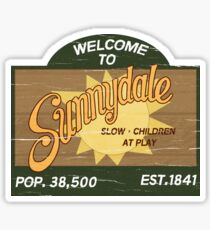 Welcome to Sunnydale : Inspired by Buffy The Vampire Slayer Sticker