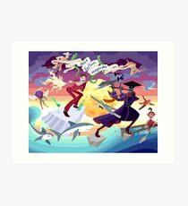 Ron Burgundy vs Scaramouche Art Print