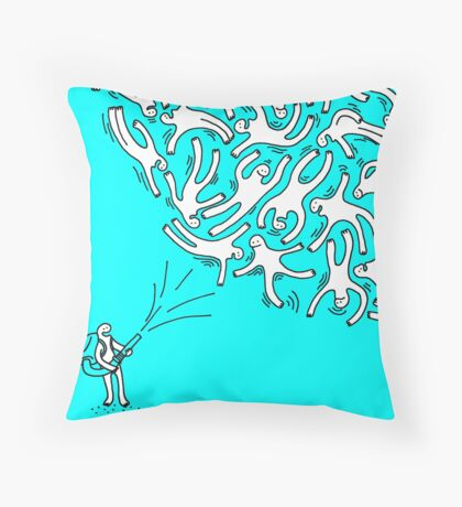 TEMPETE DE BONHOMME Throw Pillow