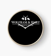 Wolfram And Hart : Inspired by Buffy The Vampire Slayer / Angel Clock