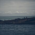 Dark and gloomy effect on the shipwrecks at Tangalooma Island by Rob D