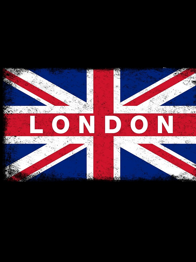 London Shirt Vintage United Kingdom Flag T-Shirt by ozziwar
