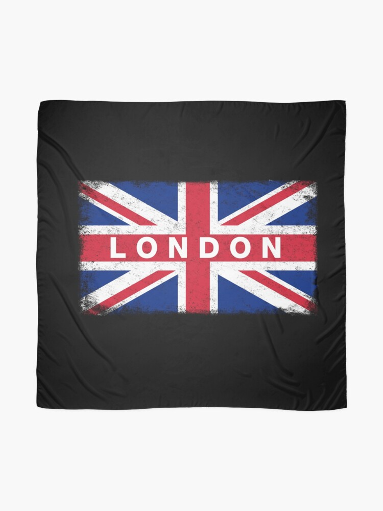 Alternate view of London Shirt Vintage United Kingdom Flag T-Shirt Scarf