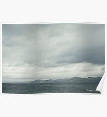 Grey seascape Poster