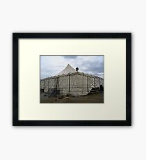 OLD CIRCUS TENT Framed Print