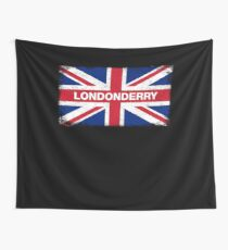 Londonderry Shirt Vintage United Kingdom Flag T-Shirt Wall Tapestry