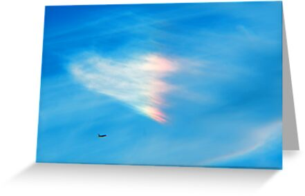 Heart Shaped Rainbow Colored Cloud by Robin Fortin IPA