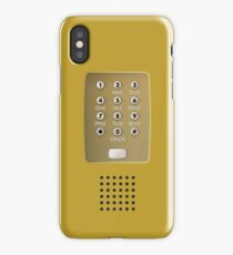 Vintage Touch-Tone Yellow iPhone Case/Skin