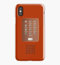 Vintage Touch-Tone Red iPhone Case/Skin