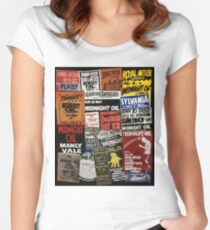 midnight oil - my city of Sydney Women's Fitted Scoop T-Shirt