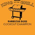 King of the Grill by HandDrawnTees