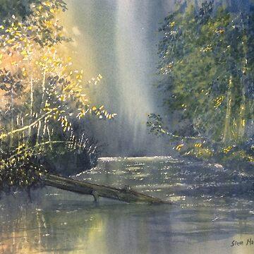 """Dawn on the Derwent"" by GlennMarshall"