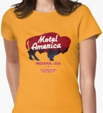 Motel America Womens Fitted T-Shirt