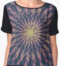 Blue, Purple and Pink Abstract Women's Chiffon Top
