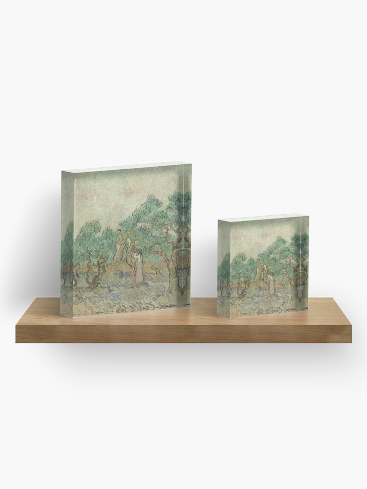 Alternate view of The Olive Orchard by Vincent van Gogh - Classic Art Acrylic Block