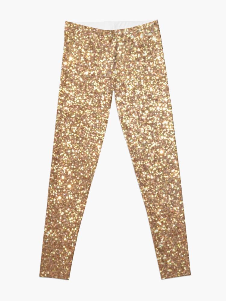 100% authentique 51203 0858a Paillettes métallisées en cuivre et or rose | Legging