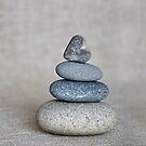Stone Heart Balance Pebble by artsandsoul