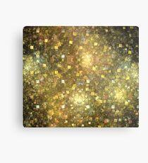 Summer Gold Cubes Metal Print