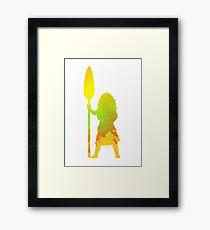 Princess Inspired Silhouette Framed Print