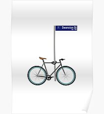 Melbourne Bike on Swanston Street Poster