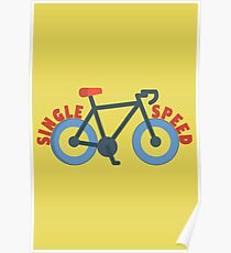Single Speed Bike Poster
