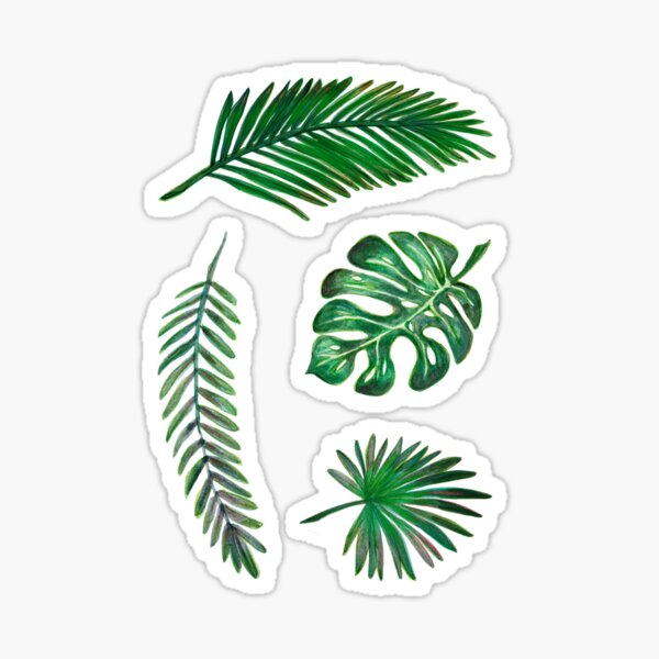 Leaf Set Sticker