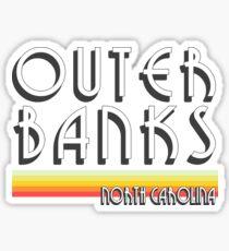 Äußere Banken Weinlese OBX NC Sticker