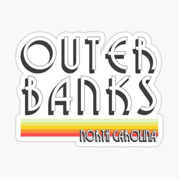 Outer Banks Vintage OBX NC Sticker