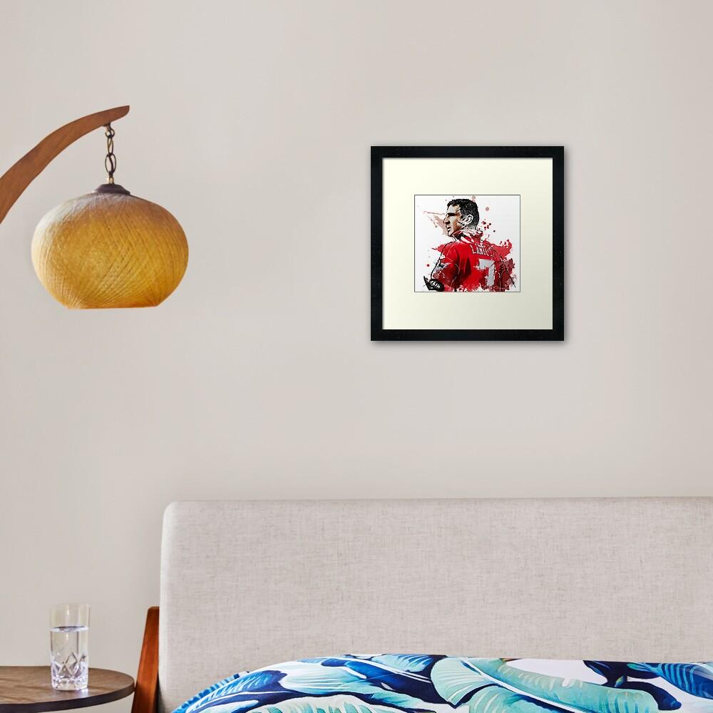 "Eric ""Le King"" Cantona Painting Framed Art Print"