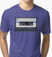 True Colours by Split Enz cassette tape Tri-blend T-Shirt
