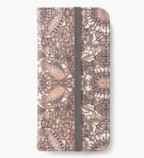 FLARAL GEOMETRY PATTERN - mandala in pink iPhone Wallet