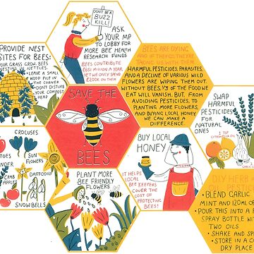 Save the Bees print by tesslucia