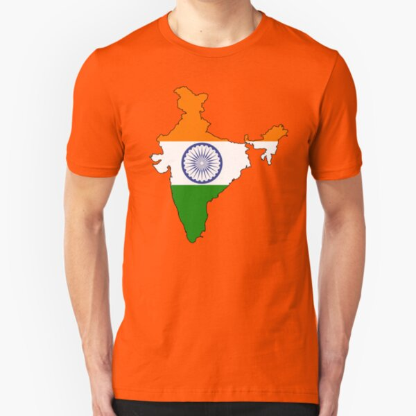 India Country and Flag Slim Fit T-Shirt