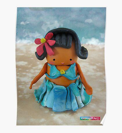 CHUNKIE Hula Girl Poster