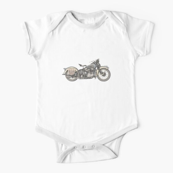 1936 Harley Davidson Motorcycle Short Sleeve Baby One-Piece